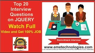 Top 20 Interview Questions and Answers on JQUERY