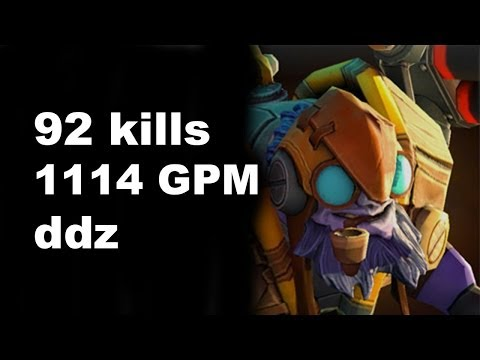 ddz Tinker 92 Kills in Pub Match 1114 GPM Dota 2