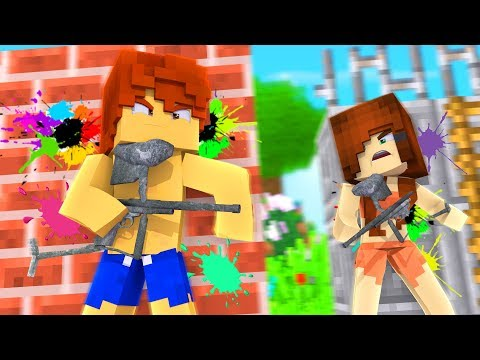 Minecraft Summer - Paintball Battle !? (Minecraft Roleplay - Episode 3)