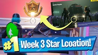 Fortnite Season 10 Week 3 Secret Battle Pass Star Location