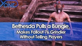 Bethesda Pulls a Bungie, Makes Fallout 76 Grindier Without Telling Players
