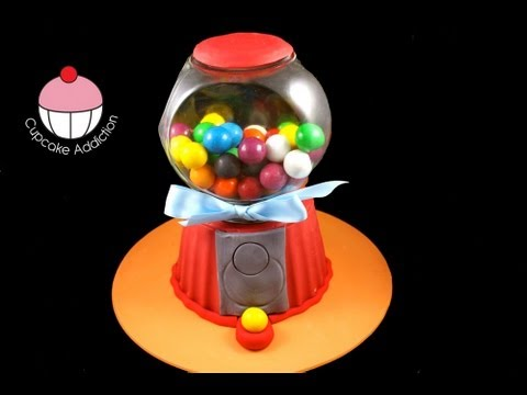 Make a Gumball Machine Giant Cupcake Cake! A Cupcake Addiction How To Tutorial