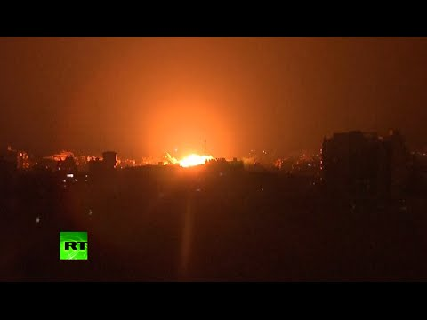 Massive ball of flame over Gaza as Israel intensifies bombing