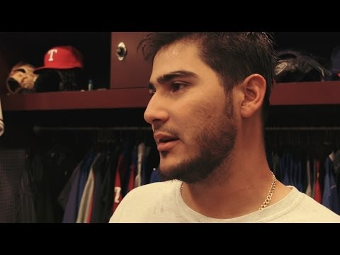 Martin Perez and Alex Rios talk about the Rangers 12-0 shutout of the White Sox