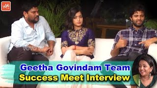 Geetha Govindam Team Success Meet Interview | Vijay Deverakonda, Rashmika, Parasuram