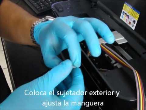 Instalacion de tinta continua en Epson T22