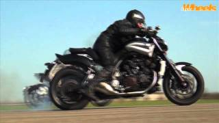 Diavel vs V-Max quarter mile race