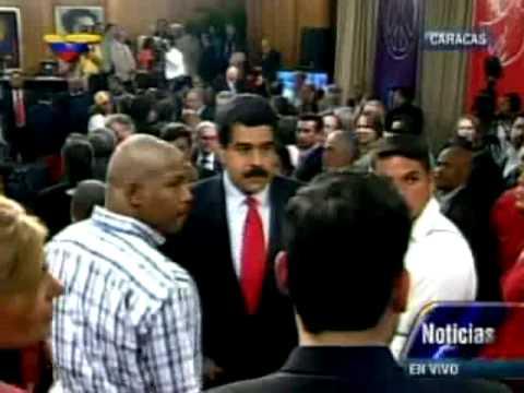 Maduro saludó a Lorenzo Mendoza en Miraflores