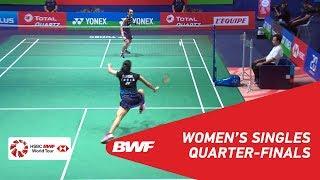 QF | WS | TAI Tzu Ying (TPE) [1] vs Saina NEHWAL (IND) | BWF 2018