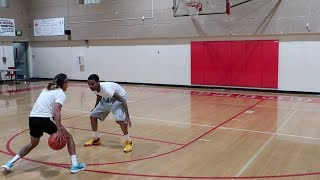 PAINFUL 1V1 AGAINST EX D1 COLLEGE FEMALE PLAYER BRIANA GREEN!