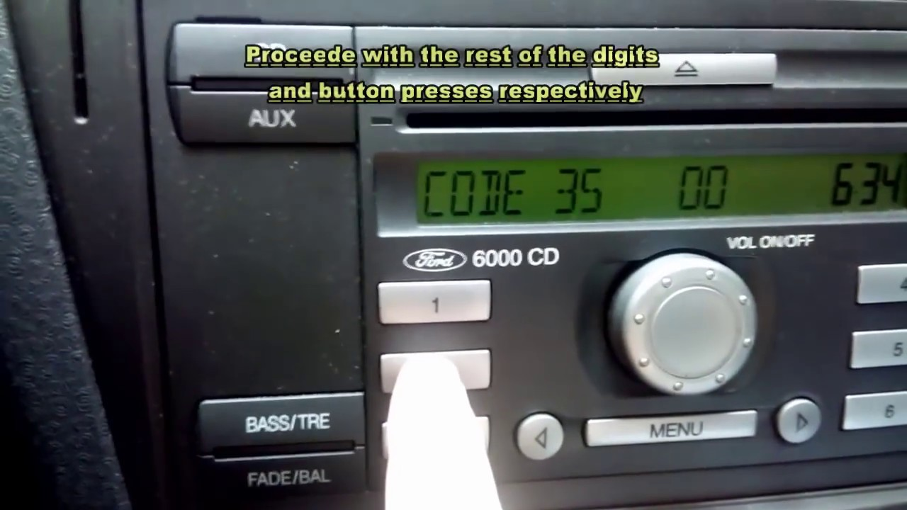 How To Ford 6000 Cd Entering Key Code The Idiot S Guide