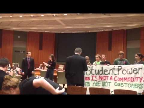 OU students disrupt Trustees meeting