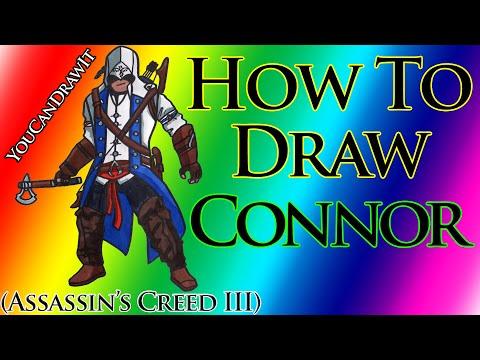 ¬идео как нарисовать Assassins Creed 3