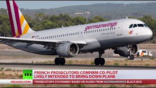 Germanwings co-pilot crashed plane deliberately - prosecutor Image