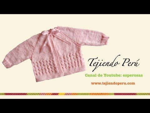 Dos agujas: chaquetita para bebé (Parte 1)
