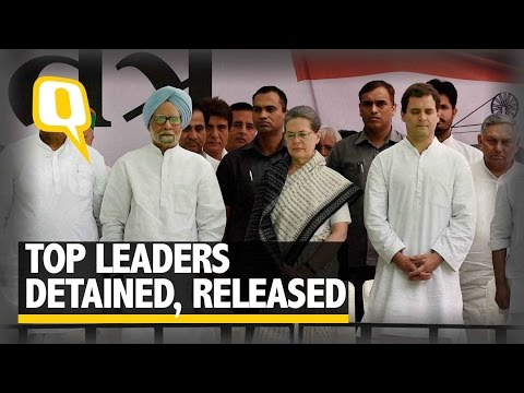 The Quint: Sonia Gandhi, Rahul Gandhi And Manmohan Singh Detained, Released