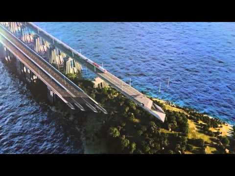 Russia: The final draft of the bridge in Crimea  / Крымский мост 2015
