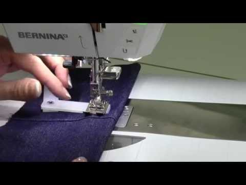 Bernina 710 46 Jeans Hem with the Height Compensation Tool