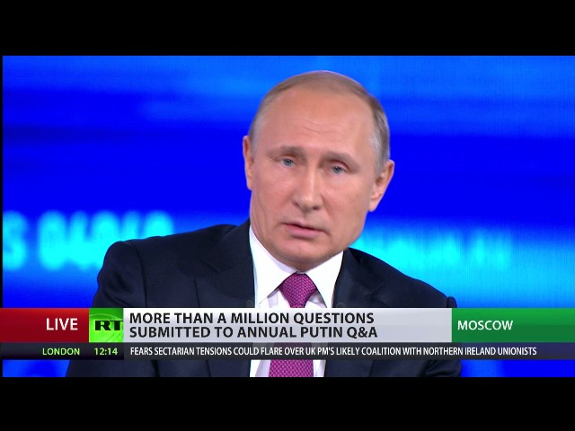 'Russians do not consider Americans as enemies' – Putin at Q&A session
