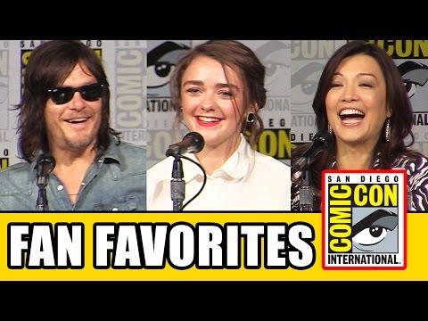 Fan Favorites Comic Con Panel - Maisie Williams, Norman Reedus, Eliza Taylor, Ming-Na Wen