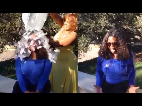 Oprah Winfrey - Completing The ALS Ice Bucket Challenge Fail Compilation