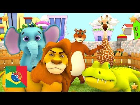 Vamos ao Zoolo?gico   Canções Infantis   Rimas Para Bebês   Música De Criança