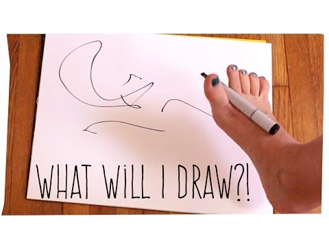 What Will I Draw?! (foot doodle)