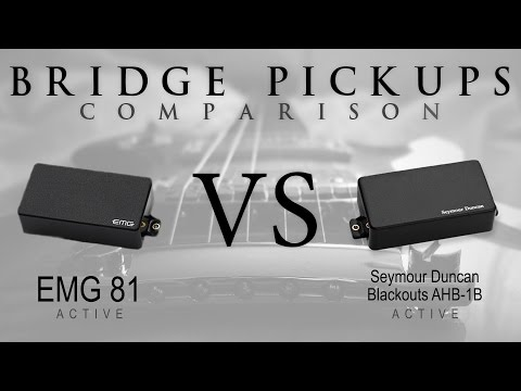 EMG 81 vs BLACKOUTS - Active Bridge Pickup Guitar Tone Comparison / Review #2