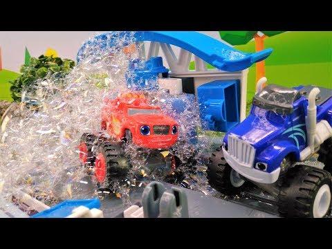 Мультики про машинки. Чудо машинки Вспыш и Крушила на автомойке.