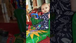 Funny Baby Kade recognized camera for first time
