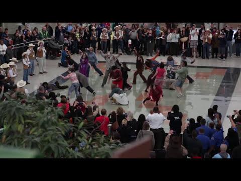 Denver International Airport Halloween Zombie Thriller Flash Mob 2013