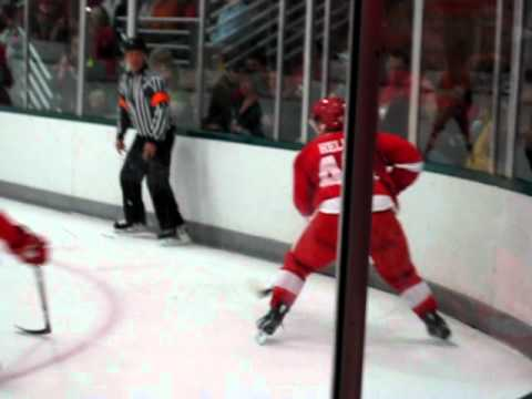 Red & White Game 2010 - Helm scores off Ericsson