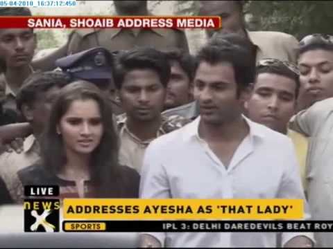 Sania Mirza, Shoaib Malik address media in Hyderabad