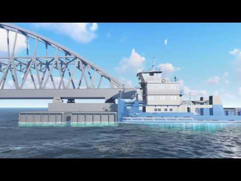Сборка и транспортировка арок Крымского моста. Графика