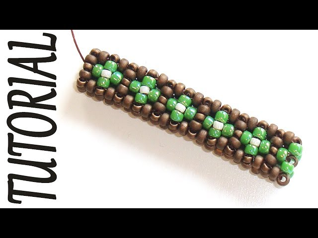 Cubic RAW beading Tutorial - 2 Rows CRAW Pattern - Bead Tutorial Cubic Right Angle Weave