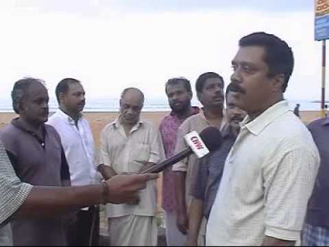 PLUS FITY JAYAPALAN DAILY SWIMS AND FLOATS IN KOLLAM BEACH