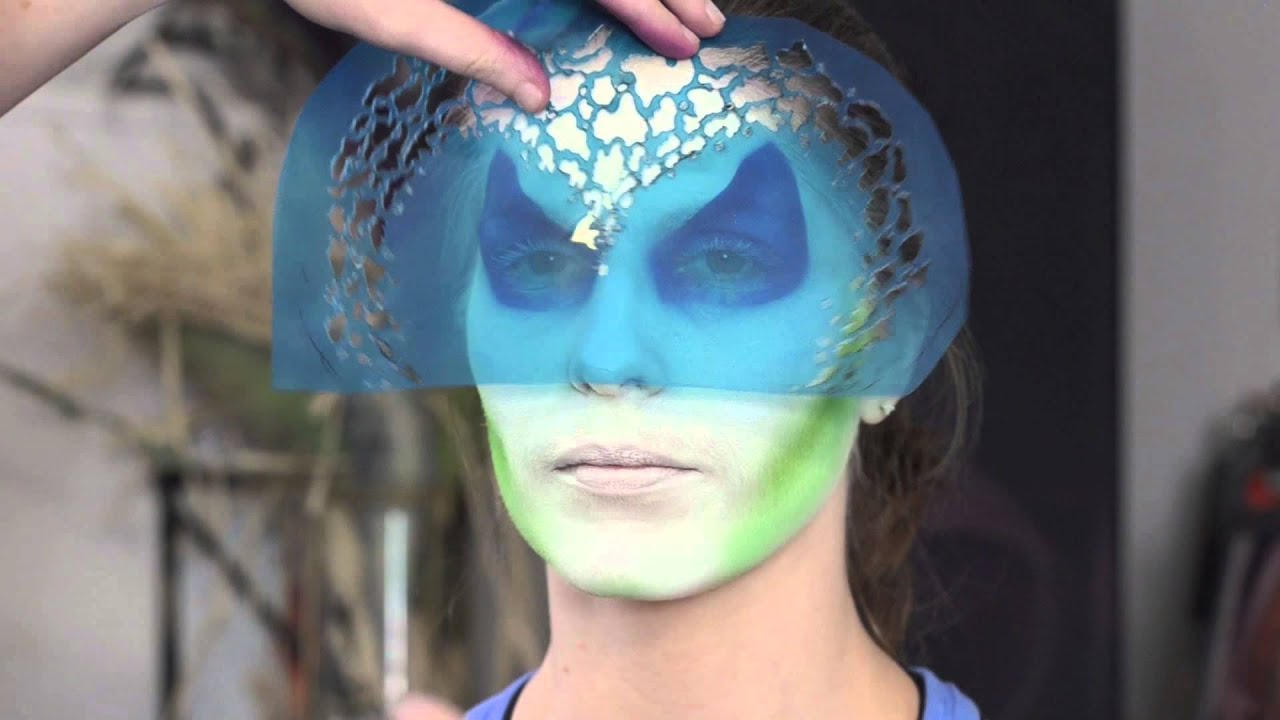Airbrush Face Painting Stencil Eyes