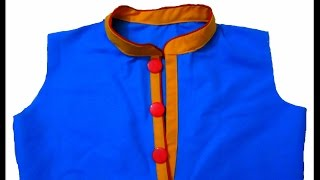 PIPING  PLACKET NECK LINE  to look fashionable and Trendy for kurtis and salwar kameez - Easy Sewing
