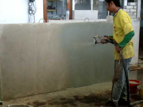 rbm skim coating plaster for concrete youtube. Black Bedroom Furniture Sets. Home Design Ideas