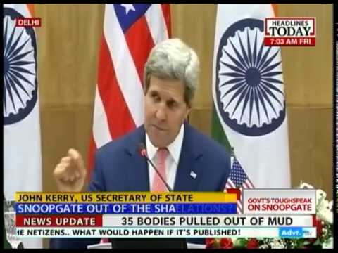 Snooping is unacceptable: Sushma Swaraj warns John Kerry