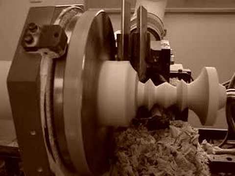 CNC Woodturning - Century Porch Post