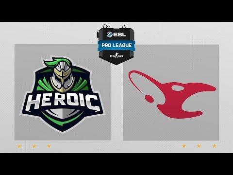 CS:GO - Heroic vs. mousesports [Overpass] Map 2 - ESL Pro League Season 4 - EU Matchday 25