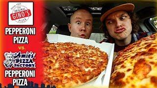 Amie's Pizza Factory Pepperoni Pizza vs. Original Gino's Pepperoni Pizza   *TOLEDO PIZZA BATTLE*