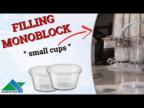 Albertina - filling and capping monoblock for cups