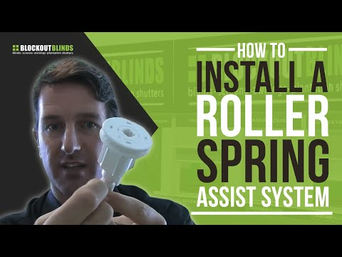 how to install a roller blind spring assist system youtube. Black Bedroom Furniture Sets. Home Design Ideas