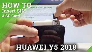 HUAWEI Y5 2018 HOW TO INSERT SIM and SD Card / Set Up SIM & SD