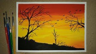 categorias de videos easy poster colour landscape paintings