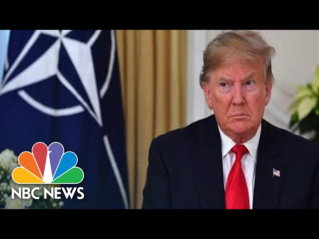 Trump Meets With Angela Merkel At NATO Meeting  NBC News Live Stream Recording