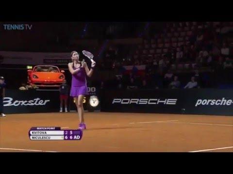 Petra Kvitova Saves Three Match Points In 2016 Porsche Tennis Grand Prix Second Round