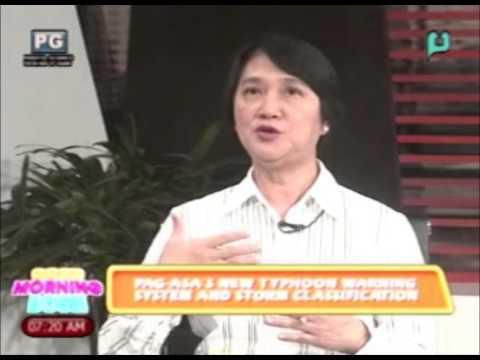 Panayam kay Dr. Esperanza Cayanan - ukol sa new typhoon warning sys. & storm classif. ng PAGASA